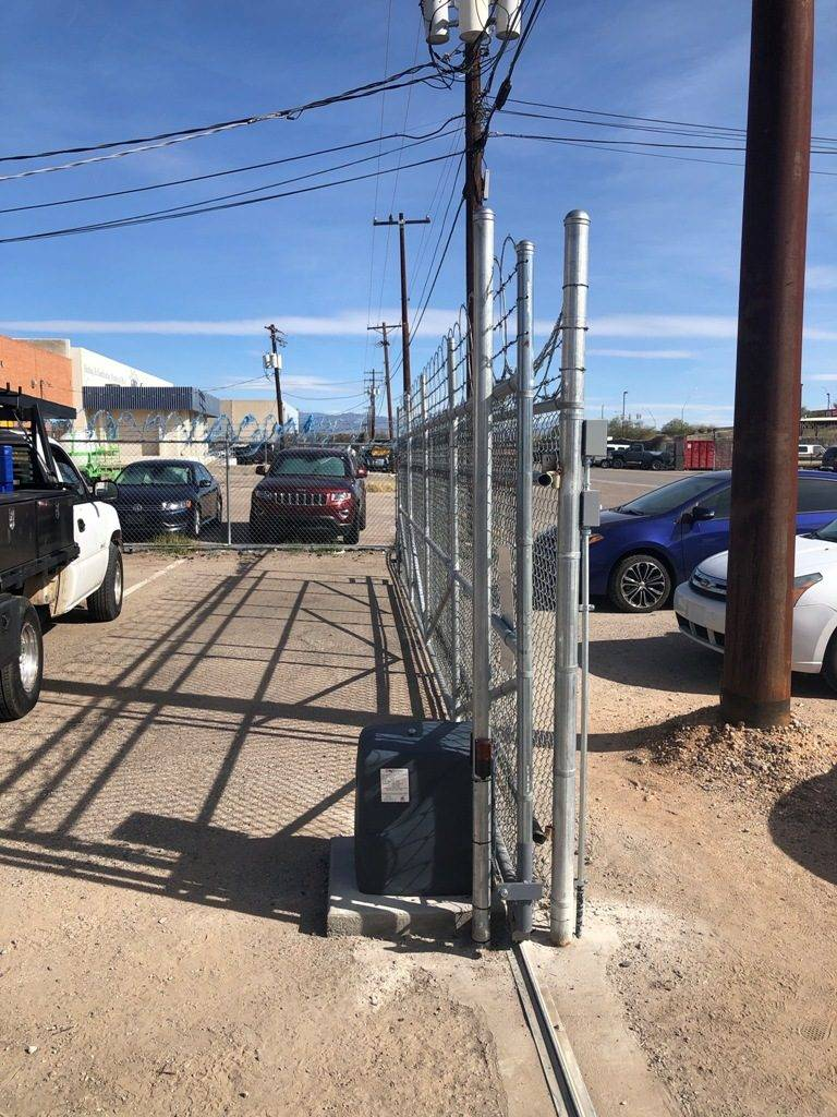 commercial automatic gate installation using HySecurity 2