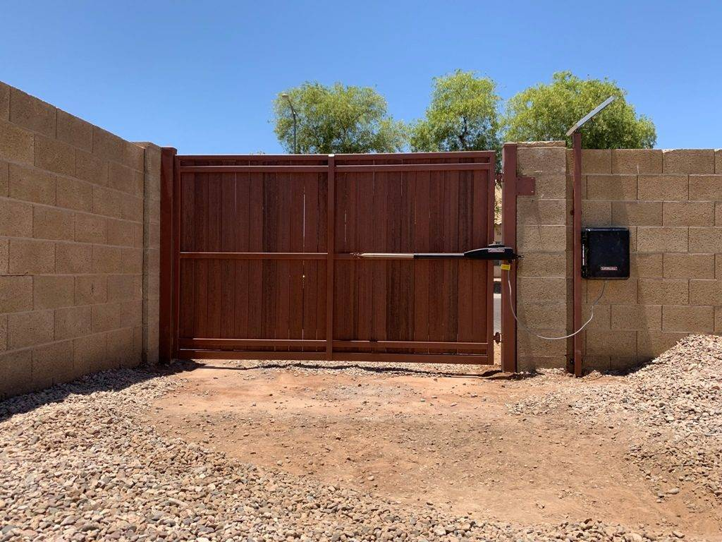 new gate installation using LiftMaster gate operator 2