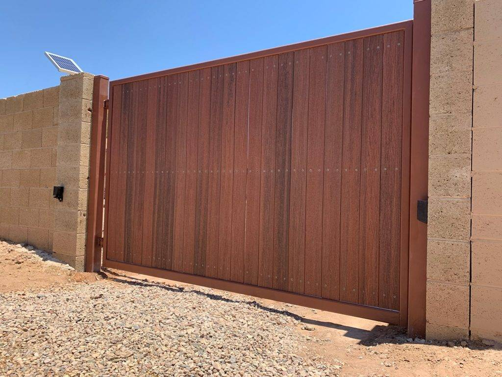 new gate installation using LiftMaster gate operator 5