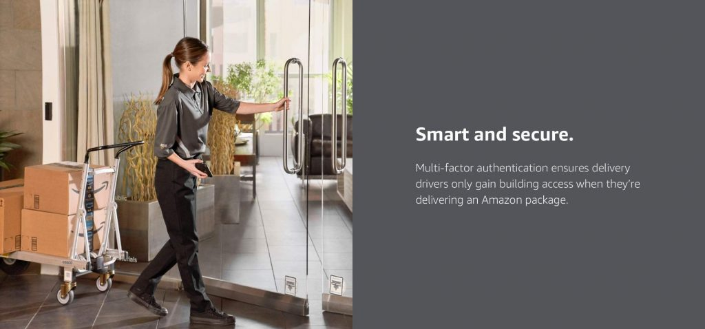 Amazon key for business using Moving Gate Systems