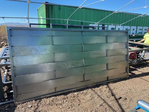 Sheet-metal-Weaved-gate-designed-fabricated-installed-in-North-East-Tucson-by-Moving-Gate-Systems
